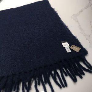 New J. Crew navy scarf